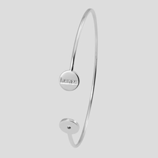 Hanza Silver Bracelet with Black Diamond